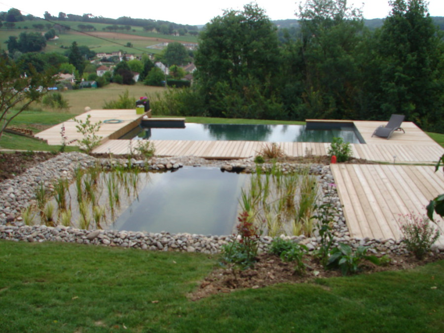 constructeur de piscine biologique baignade naturelle sarl escarmant paysagiste en dordogne. Black Bedroom Furniture Sets. Home Design Ideas